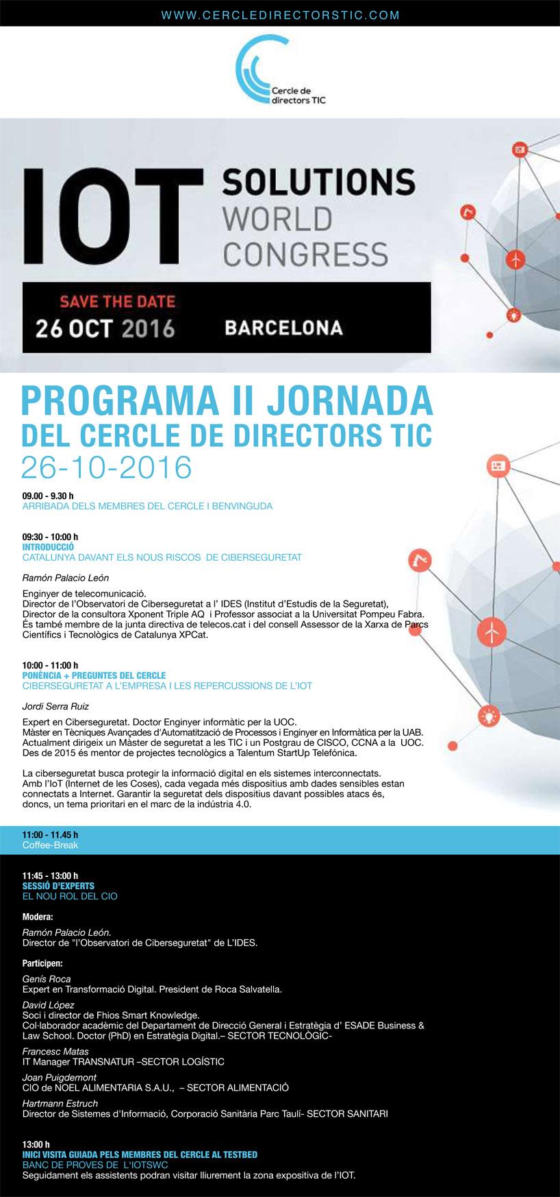 Programa Cercle Directors TIC - 26 octubre IOTSWC